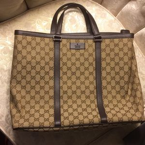 Gucci Tote Bag with Shopping Bag NWOT